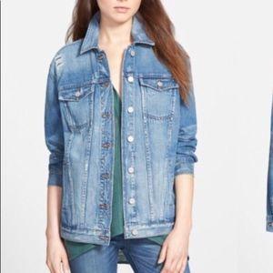 Madewell Distressed Oversized Jean Jacket